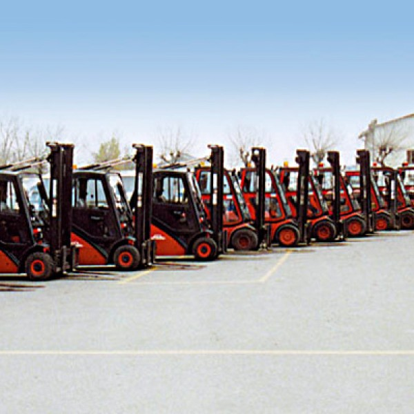 Forklifts at the Sassuolo Headquarters